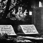 Kirkut we Wrocławiu; odbitka w technice gumy dwuchromianowej na papierze Canson Montval, limitowana seria 15 numerowanych i sygnowanych odbitek